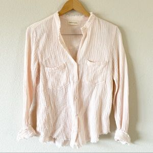 Cloth&Stone Pink Long sleeved top
